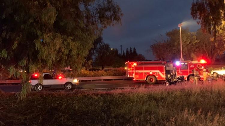 4 people injured in crash along Highway 99 near Galt on Tuesday morning