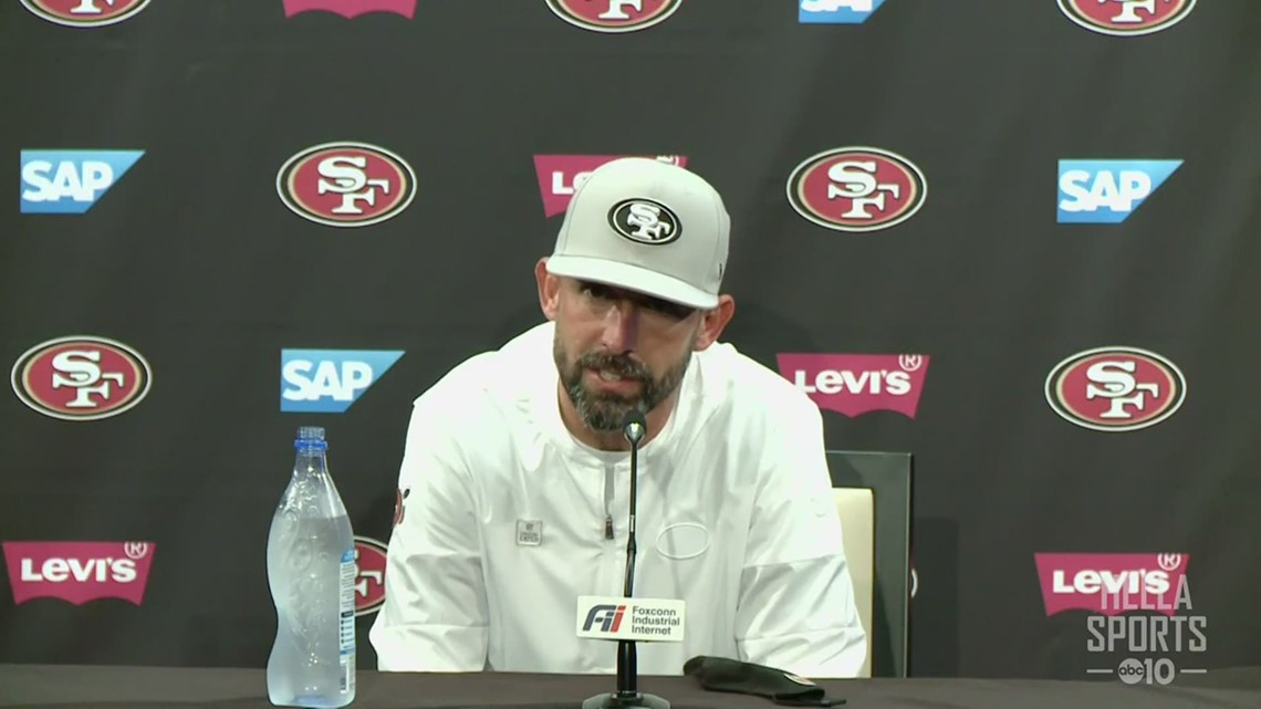 49ers coach Kyle Shanahan on loss to the Eagles, decision to pull QB Nick Mullens