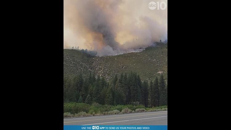 Tamarack fire shows what looks like a rope tornado