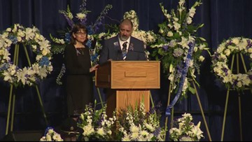 Natalie Corona's father speaks at his daughter's memorial service