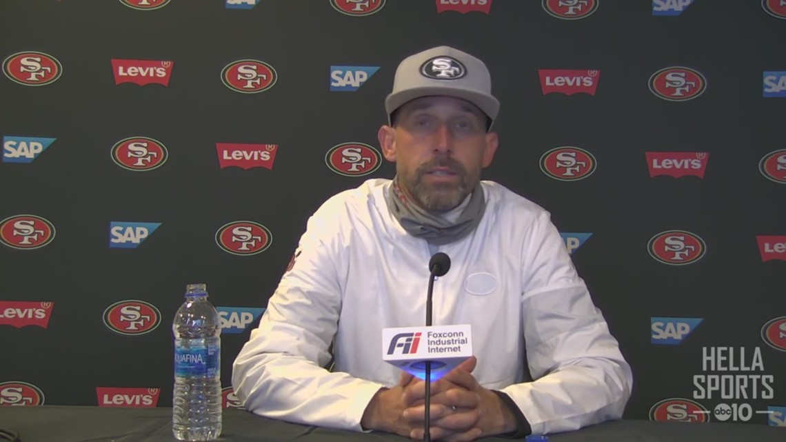 Coach Kyle Shanahan on the 49ers 31-13 win over the Jets & losing several players to injury