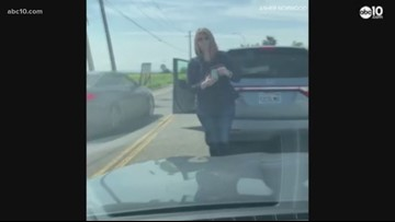 Road rage incident caught on cell phone video in West Sacramento