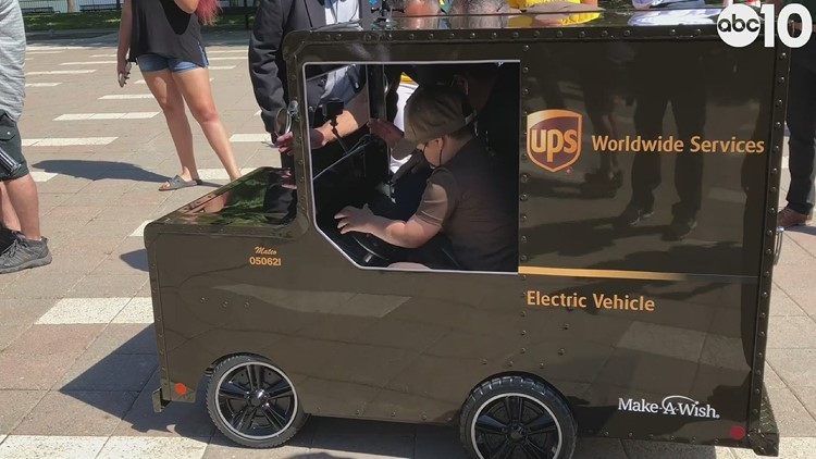 Stockton boy, 6, becomes UPS driver as part of Make-A-Wish event
