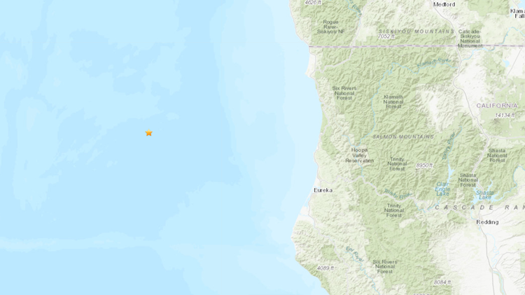 3.4 magnitude earthquake strikes off Northern California coast