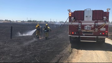 Neighbors react quickly to protect community from fast-moving grass fire