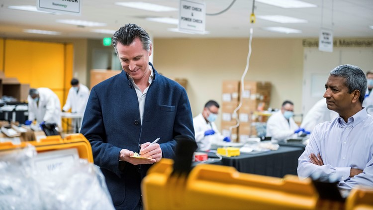 Gov. Newsom to announce new plan to help healthcare workers during coronavirus 'surge'