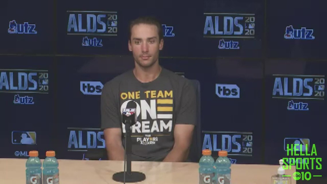 Matt Olson discusses A's series opening 10-5 loss to Astros in ALDS