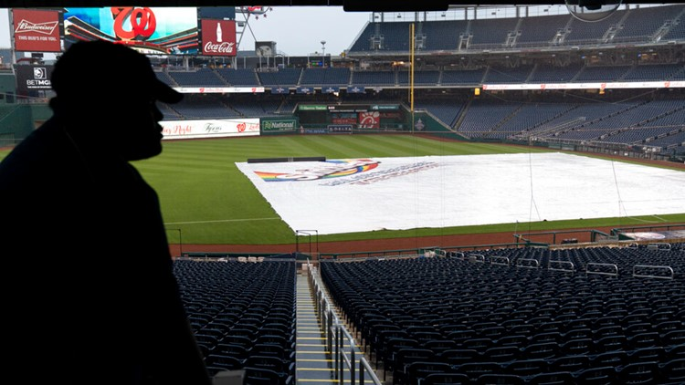 Giants, Nationals rained out, day-night twin-bill Saturday