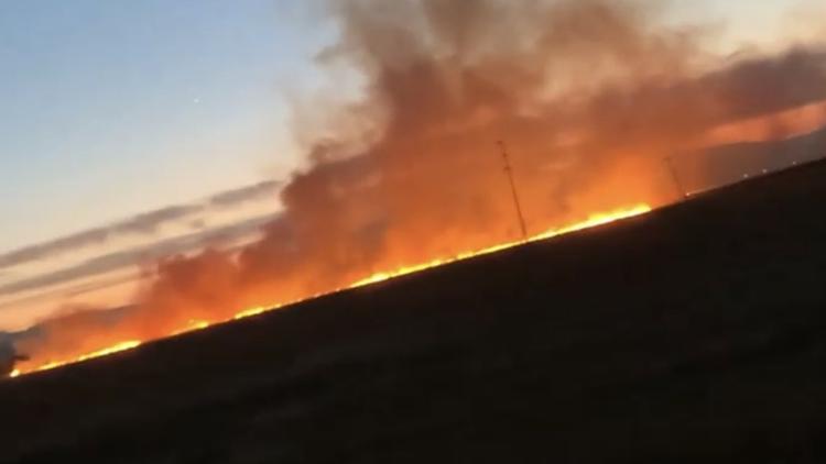 Vegetation fire sparks near Highway 12 in Fairfield