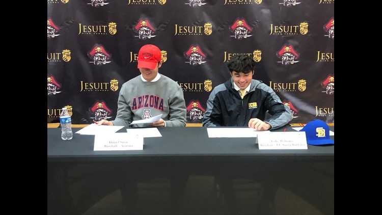 Jesuit students participate in 2019 National Signing Day