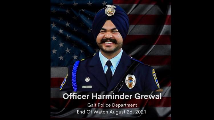 Funeral services for fallen Galt police officer Harminder Grewal