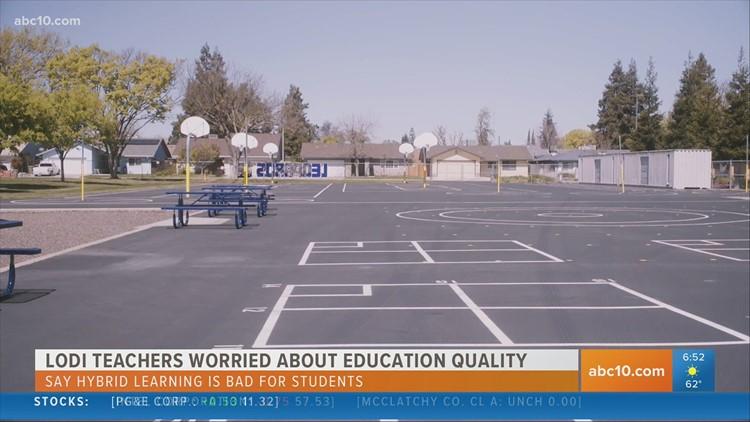 Lodi teachers worry hybrid learning lacks quality in education
