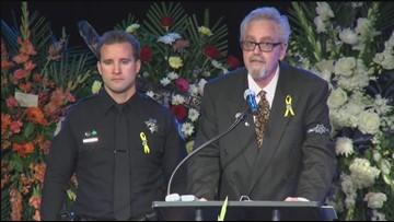 Sacramento Officer Tara O'Sullivan's godfather, Gary Roush, gives a eulogy