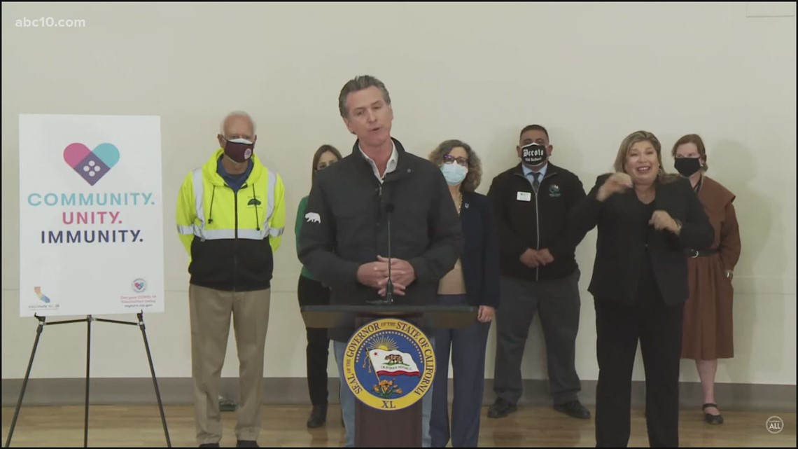 Gov. Newsom discusses state vaccine eligibility expanding and state's fight against COVID-19