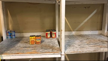 Photo of nearly empty shelves shows need for canned chicken, tuna at Elk Grove Food Bank