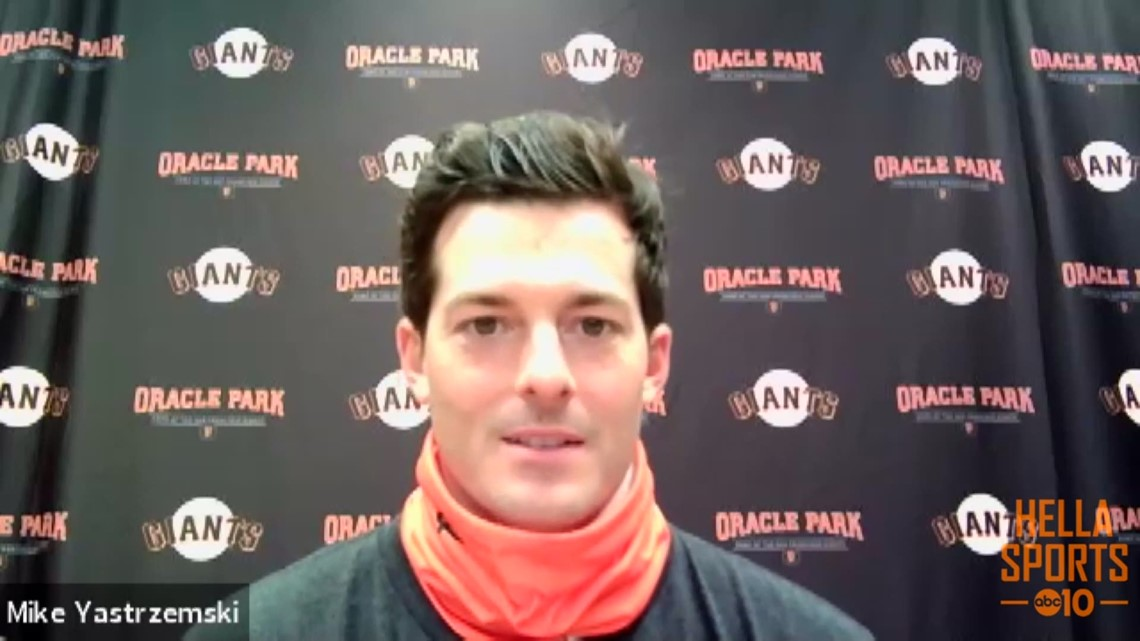 Mike Yastrzemski talks about his walk-off heroics to lift the Giants over the Padres