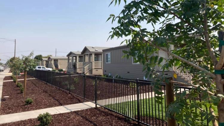 'You're safe' | 11 pre-manufactured homes built for homeless in Stockton