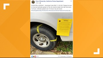 Roseville police Facebook post about parking ordinances sparks conversation among residents