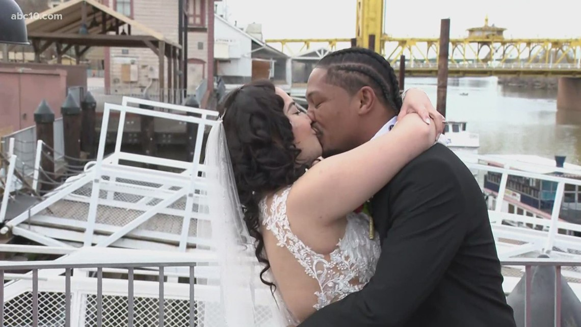 Mark S. Allen marries a couple on Valentine's Day