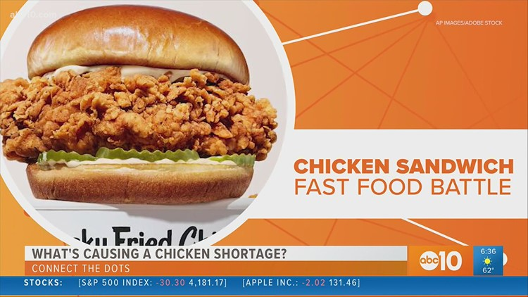 Chicken sandwich wars spur poultry shortage | Connect the Dots