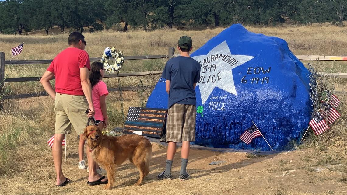El Dorado Hills landscape transforms from scenery to memorial for Officer Tara O'Sullivan
