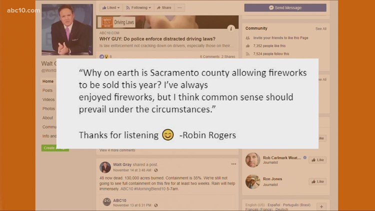 Why is Sacramento County allowing fireworks to be sold this year?   Why Guy