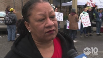 BLM - Sacramento President speaks at 'occupy' protest at police headquarters | RAW