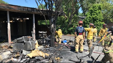 Homes, strip mall damaged in 2-alarm fire on Sunset Avenue in Fair Oaks