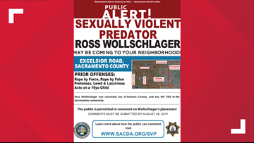 Sexually violent predator may be coming to Sacramento, community urged to voice opinion