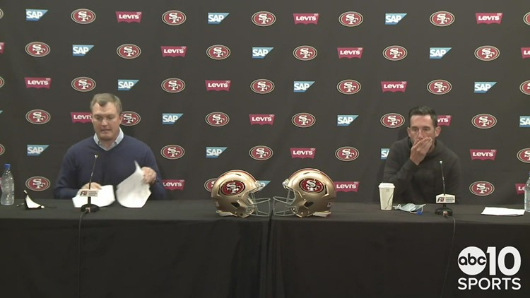 49ers coach Kyle Shanahan & GM John Lynch on trading for No. 3 pick in NFL Draft, future of Jimmy G