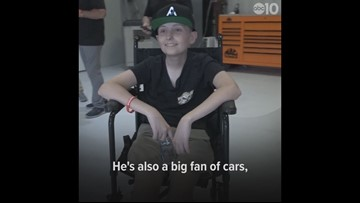 Make-A-Wish helps 15-year-old's dream car become a reality