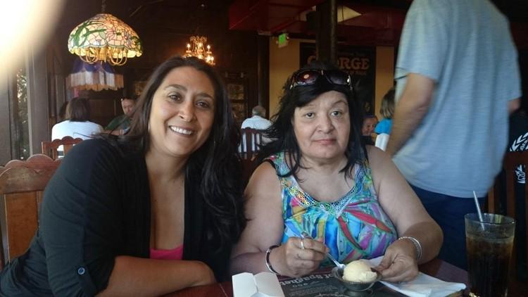 Monica Lerossignol and mother Diane Gonzalez