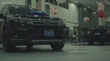 Local dealership rolls out Thin Blue Line cars to honor fallen officers