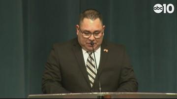 RAW: Deputy Hinostroza Funeral: Junior Hernandez remembers his friend
