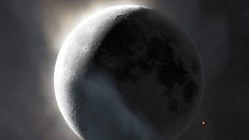 The moon, Earth and Mars align in eclipse-like event Tuesday morning