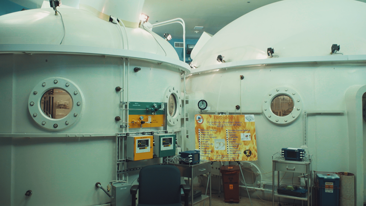 Hyperbaric chambers at Travis Air Force Base