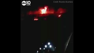 Fire crews battle massive fires at two Stockton warehouses