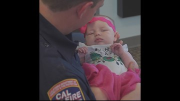 Cal Fire dispatcher helps talk father through CPR to save baby