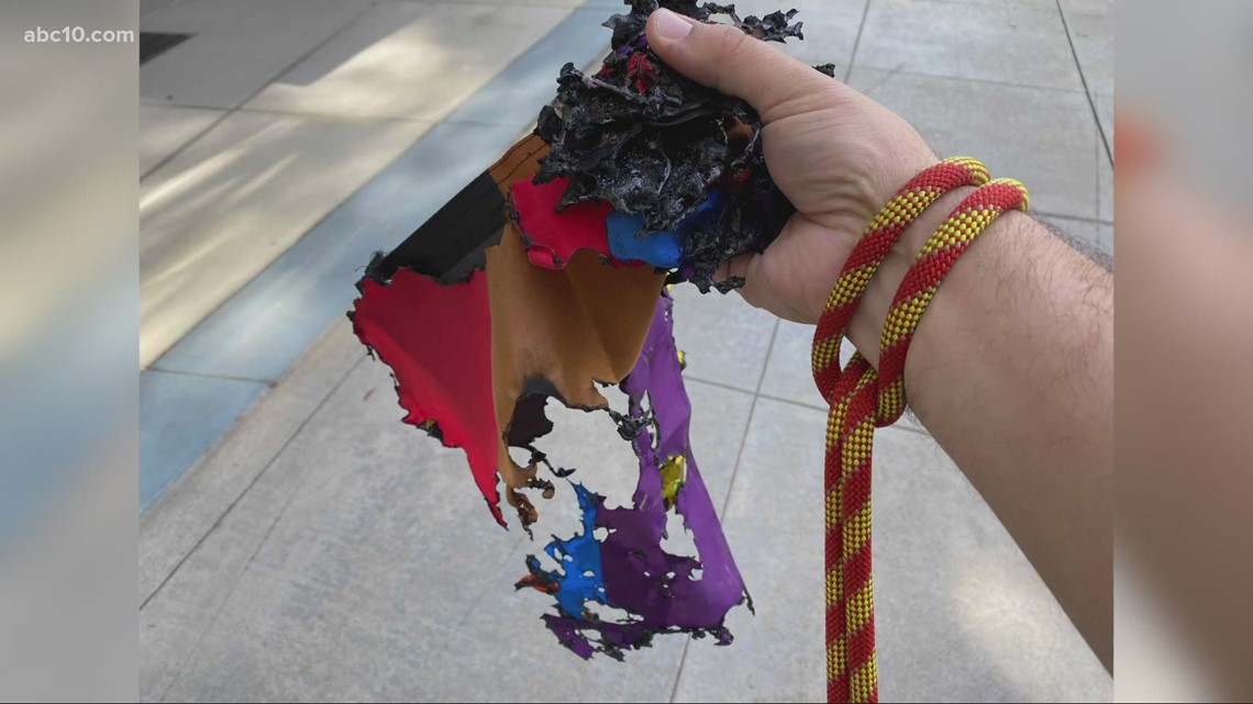 Pride flag burned outside Sacramento church