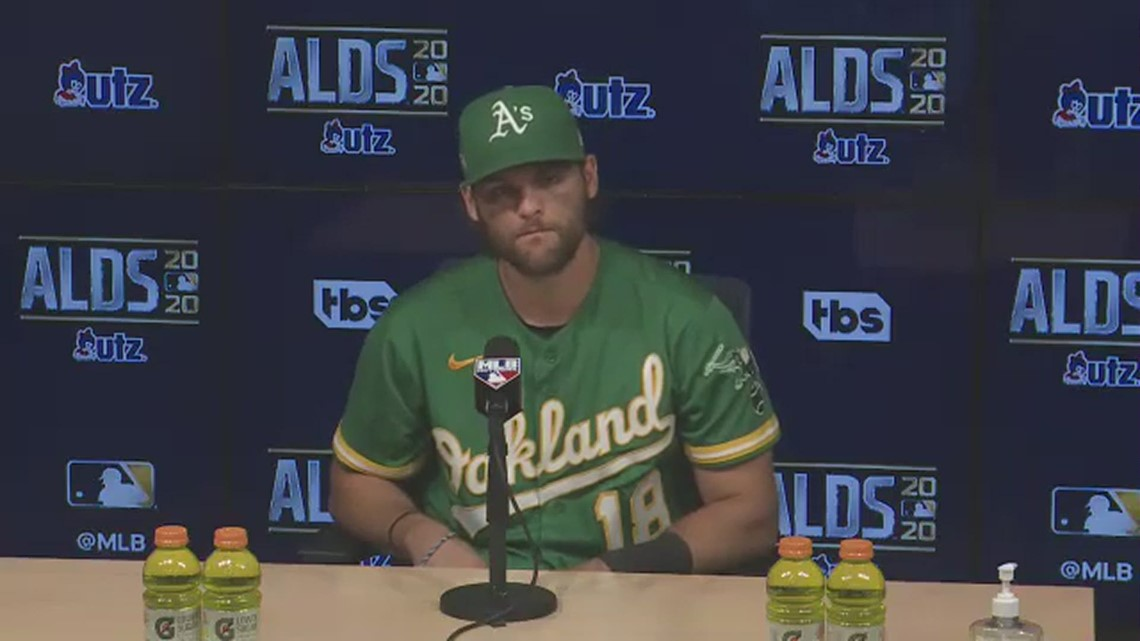 A's infielder Chad Pinder on Oakland's ALDS Game Two loss to the Houston Astros