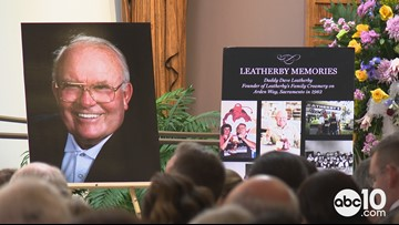 Owner of Sacramento's iconic Leatherby's Family Creamery laid to rest in front of hundreds