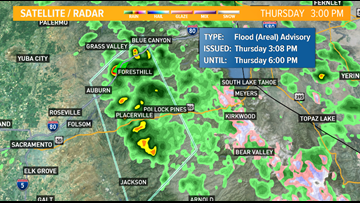 WARNING: Placer and Nevada Counties to face flash flooding