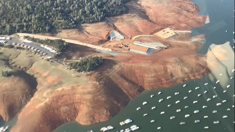 Lake Oroville in 2018