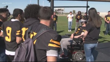 Lathrop High QB battling brain cancer gets a virtual chance to return to the field