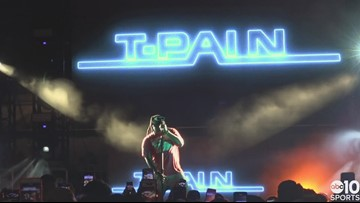 T-Pain rocks the Sacramento crowd after a Kings win in the California Classic | RAW VIDEO