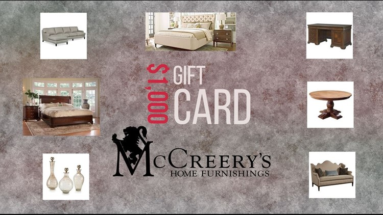 Enter to win a McCreery's 1K Gift Card + Please Donate Today!