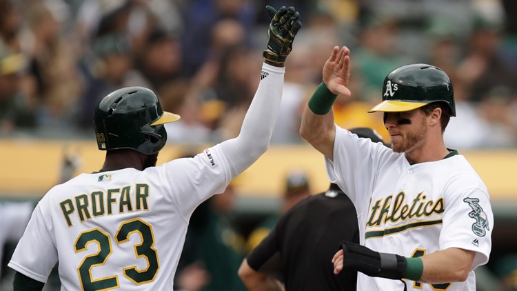 A's beat Mariners 7-1 to complete sweep, keep streak going