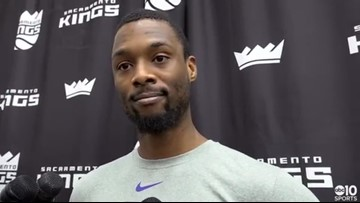 Kings F Harrison Barnes on remaining 25 games, previews Warriors
