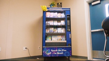 Shelves are overrated. How about a book vending machine?