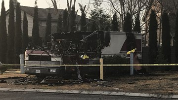 Two people dead, two others injured in Dixon RV fire
